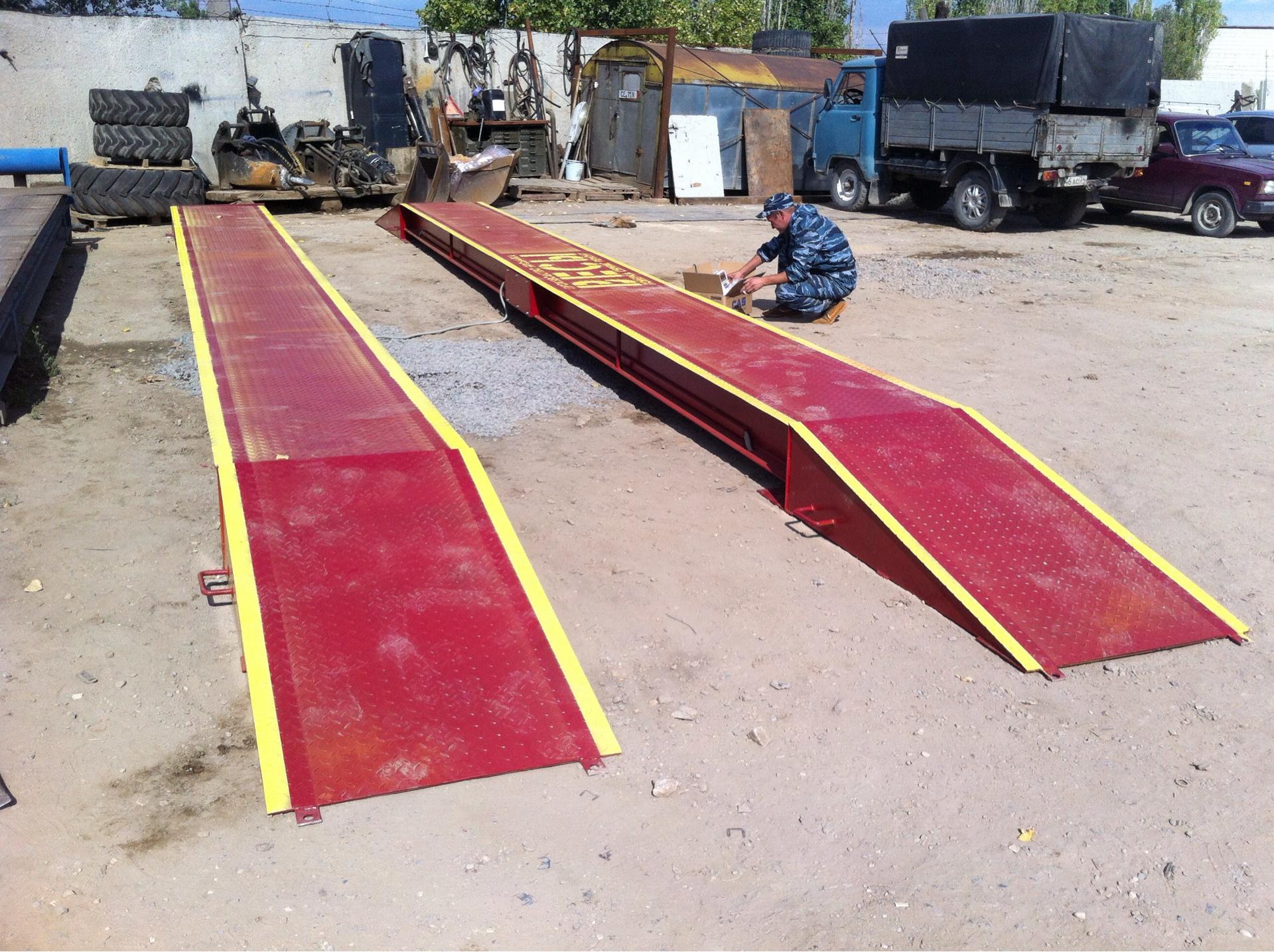 Изготовим весы любым размером грузоприёмной платформы и max нагрузкой до тонн.